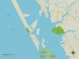 Political Map of Manasota Key, FL Prints