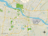 Political Map of Little Rock, AR Print