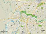 Political Map of Sacramento, CA Prints