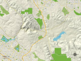 Political Map of Sunol, CA Posters