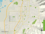 Political Map of Woods Cross, UT Prints