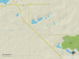 Political Map of Zellwood, FL Prints
