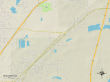 Political Map of McAlmont, AR Photo