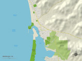 Political Map of Morro Bay, CA Prints