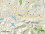 Political Map of Westlake Village, CA Prints