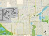 Political Map of Opa-locka, FL Print