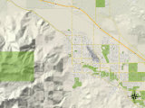 Political Map of Palm Springs, CA Art