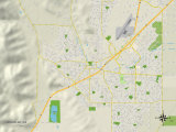 Political Map of Vacaville, CA Print