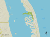 Political Map of South Beach, FL Prints