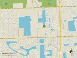 Political Map of Pembroke Park, FL Prints