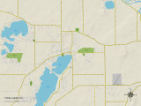 Political Map of Twin Lakes, WI Posters