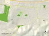 Political Map of Rowland Heights, CA Prints
