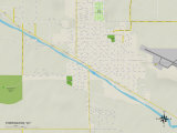 Political Map of Torrington, WY Prints