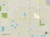 Political Map of South Bradenton, FL Photo
