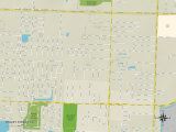 Political Map of Stacey Street, FL Prints