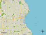 Political Map of Milwaukee, WI Prints