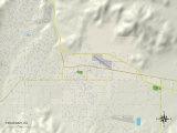 Political Map of Tehachapi, CA Print