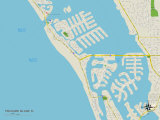 Political Map of Treasure Island, FL Print