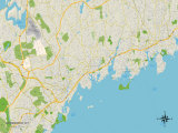 Political Map of Greenwich, CT Prints