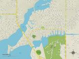 Political Map of Nokomis, FL Print