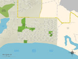 Political Map of Isla Vista, CA Print