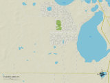 Political Map of Placid Lakes, FL Prints