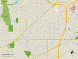 Political Map of Richland Hills, TX Photo