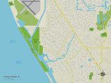 Political Map of South Venice, FL Prints