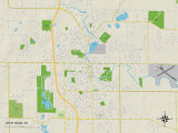 Political Map of West Bend, WI Prints
