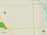 Political Map of Norland, FL Posters