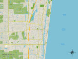 Political Map of Delray Beach, FL Prints