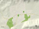 Political Map of Ojai, CA Art