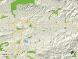 Political Map of Simi Valley, CA Photo