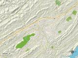 Political Map of Bristol, VA Prints