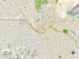 Political Map of El Paso, TX Prints