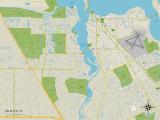 Political Map of Palm City, FL Prints