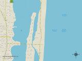 Political Map of South Palm Beach, FL Prints