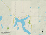 Political Map of Lake Nebagamon, WI Posters