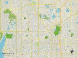 Political Map of Pinellas Park, FL Prints