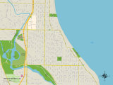 Political Map of Whitefish Bay, WI Posters