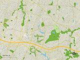 Political Map of Reston, VA Print