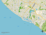 Political Map of Newport Beach, CA Poster