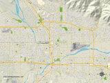 Political Map of San Bernardino, CA Photo