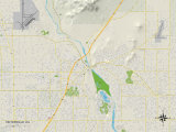 Political Map of Victorville, CA Posters