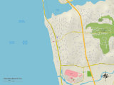 Political Map of Solana Beach, CA Prints