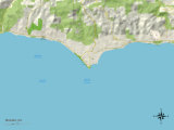 Political Map of Malibu, CA Posters