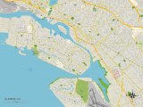 Political Map of Alameda, CA Prints