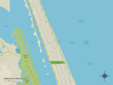 Political Map of Ormond-by-the-Sea, FL Photo