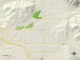 Political Map of Yucaipa, CA Prints