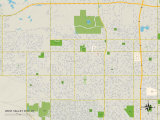 Political Map of West Valley City, UT Prints